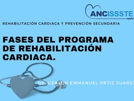Fases del programa de rehabilitación cardiaca.