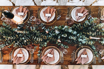 Wedding catering rustic