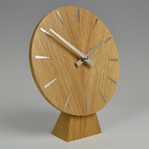 Inhouseclocks - British contemporary handmade oak mantel clock