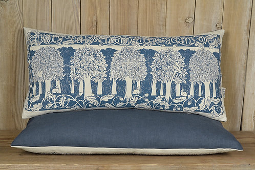 Rectangular Linen Cushion - 'Oakwood' / Indigo