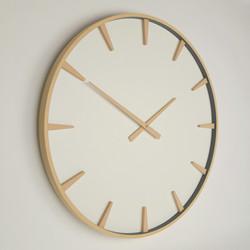 large beech wood wall clock