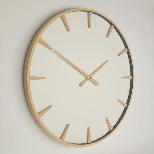 Inhouseclocks | large modern beech wood wall clock