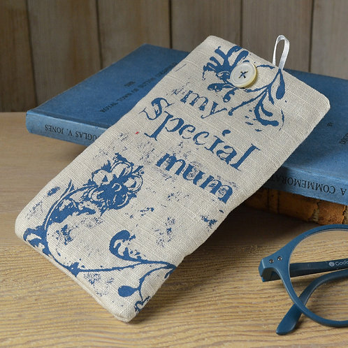 Linen Glasses Case - Mum