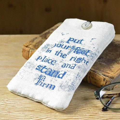 handmade linen glasses cases