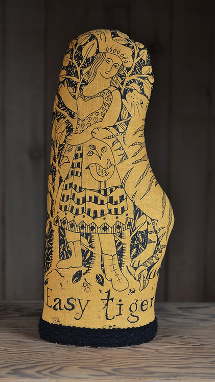 Jill Pargeter - tiger textile figures