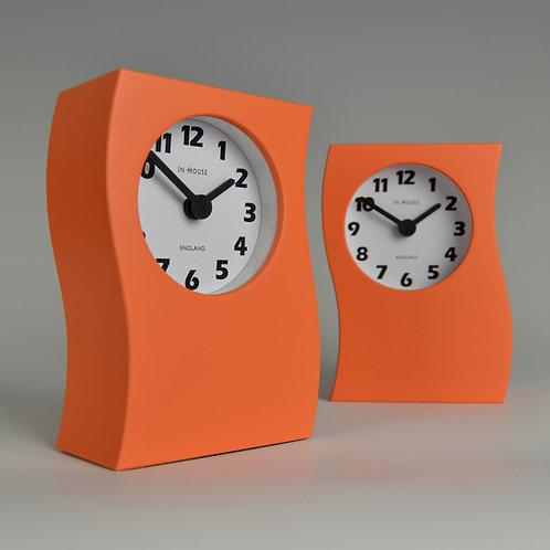 Inhouseclocks - contemporary orange mantel clock