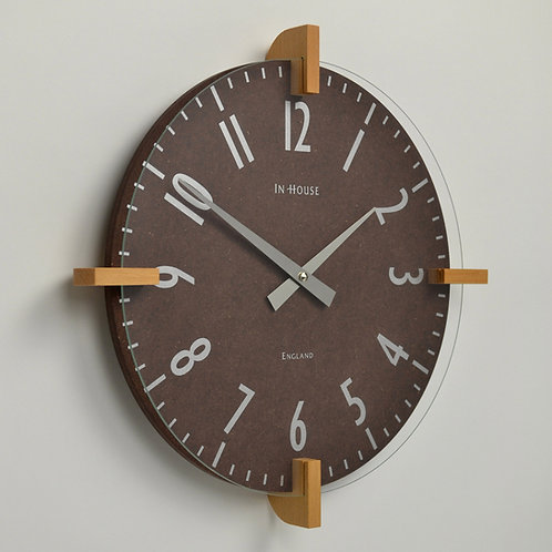 Inhouseclocks - unique handmade beech wood wall clock