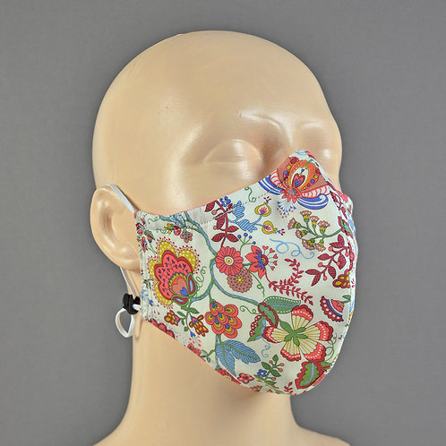 liberty fabric face mask - fully adjustable