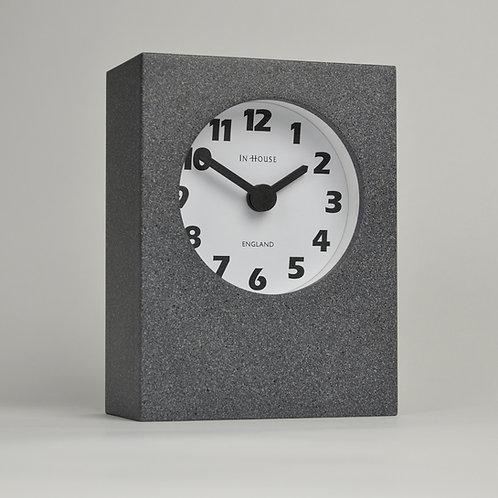 Handmade grey desk clock