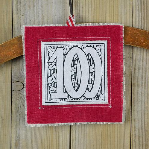 100th birthday card - hand made