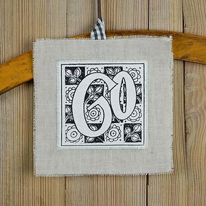 birthday linen keepsake