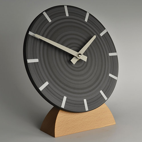 hand painted contemporary grey mantel clock