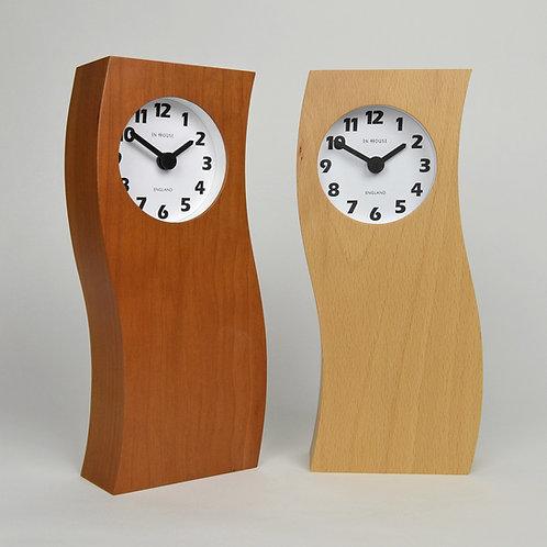 Handmade solid wood mantel clocks - tall wave clocks
