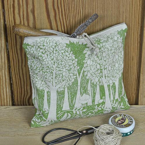 handmade zip bag - orchard - Jill Pargeter
