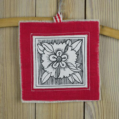 lavender keepsakes - red linen