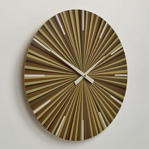 Inhouseclocks - sunburst multi stripe contemporary wallclock