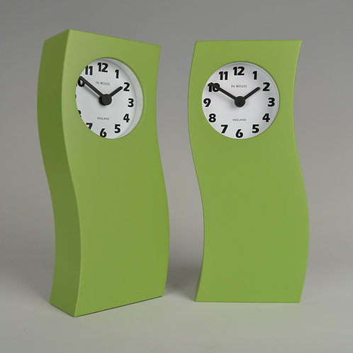 Inhouseclocks - apple green contemporary mantel clock