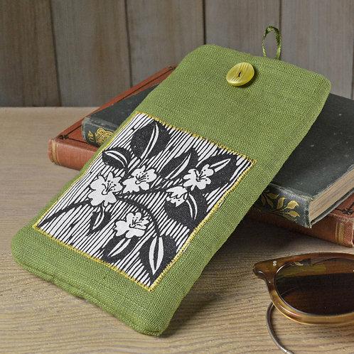 Linen Glasses Case - Blossom