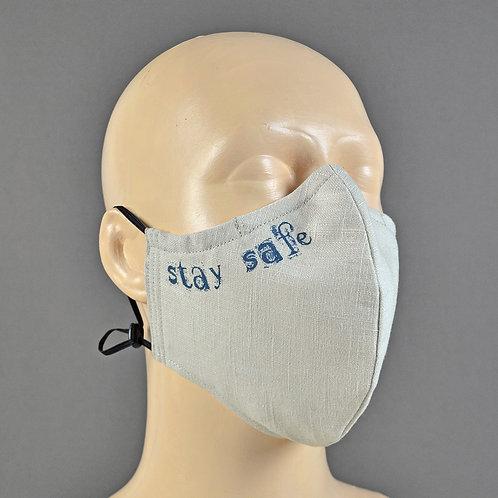 luxury adjustable fabric face masks handmade in U.K