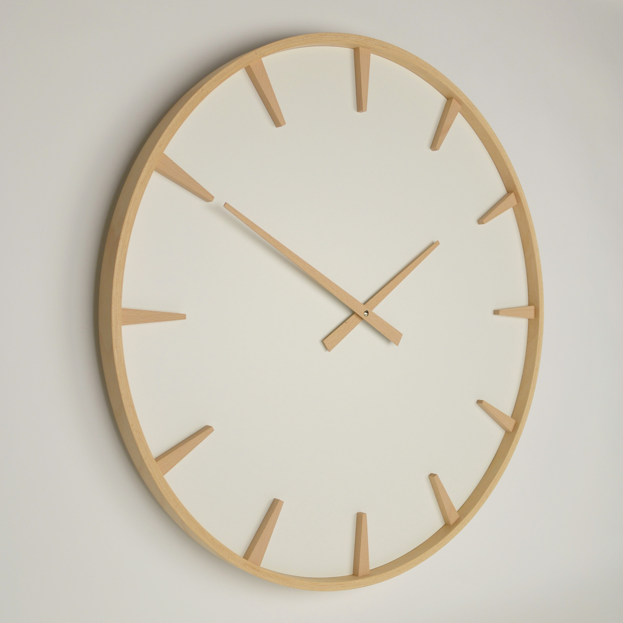 Inhouse | large beech wall clock