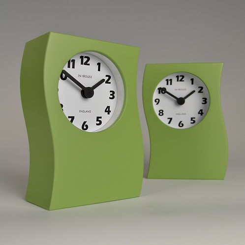 Inhouseclocks - contemporary handmade mantel clock apple green