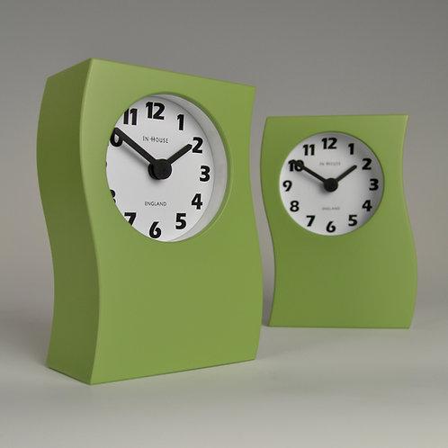 Inhouseclocks - contemporary handmade mantel clock apple green