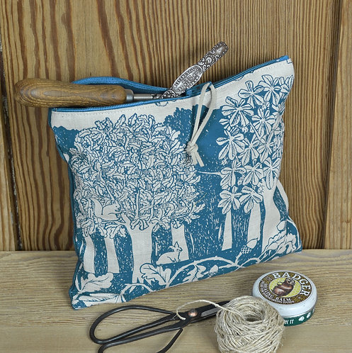 Linen Zip Bag - Oakwood