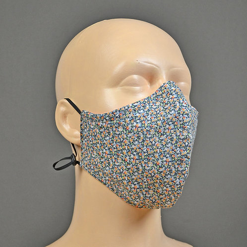 Liberty fabric triple layer face masks handmade in uk