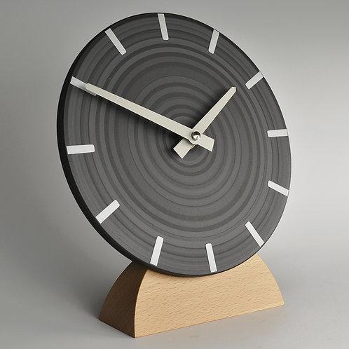British handmade contemporary mantel clock - grey