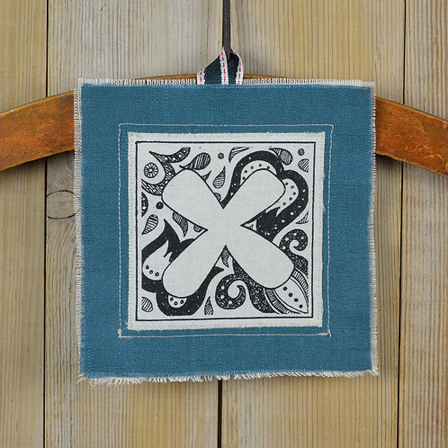 letter 'X' birthday card