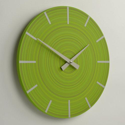 hand painted British made modern green wall clock