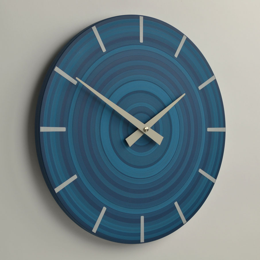 target wall clock | denim blue