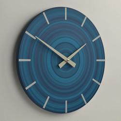 target wall clock | denim blue