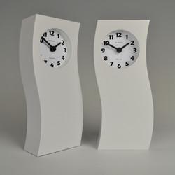 Inhouse clocks | handmade in England | tall white mantel clock