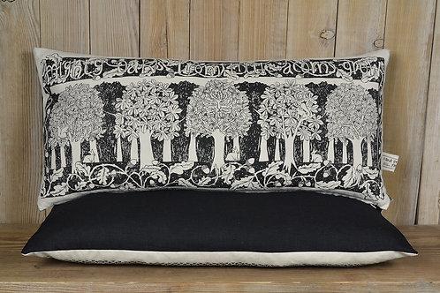 Jill Pargeter - 'Oakwood' hand printed linen cushion