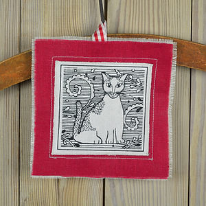 cat linen keepsake