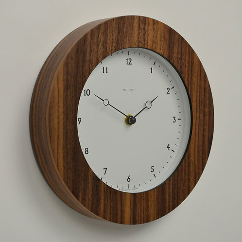 Inhouseclocks - handmade contemporary walnut wall clock