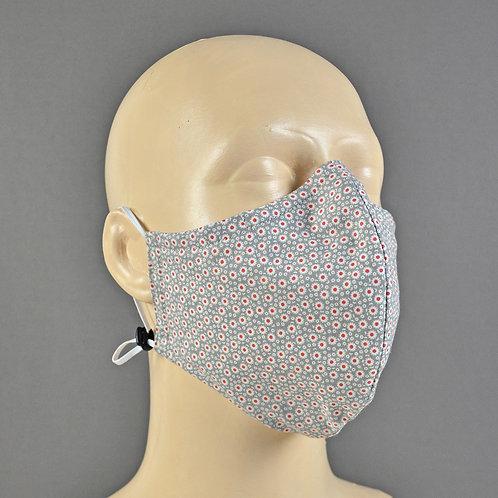 Handmade luxury fabric triple layer face mask
