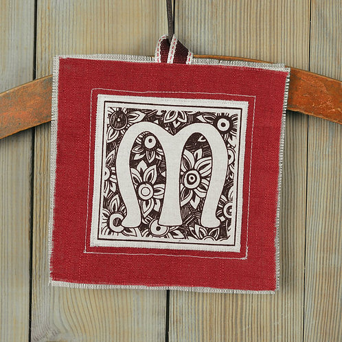 letter M - lavender filled valentine gift