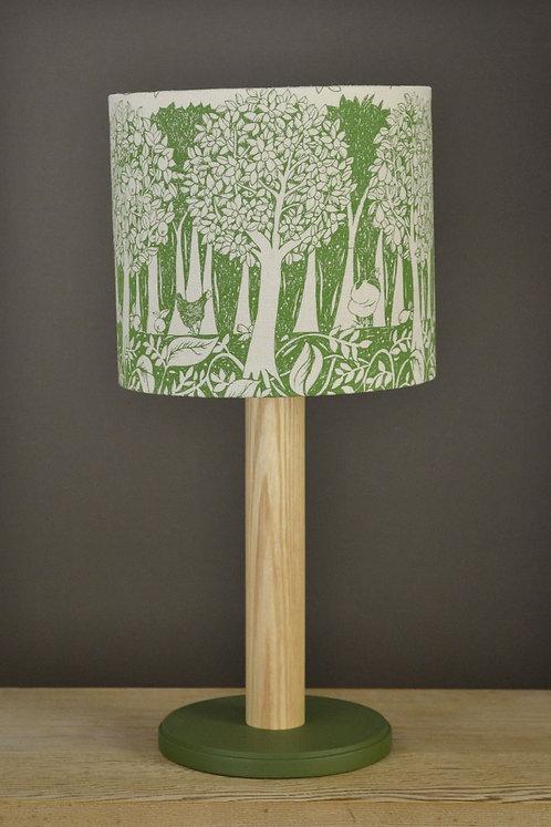 Jill Pargeter - 'Orchard' linen lampshade - Green