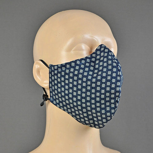 luxury navy face mask
