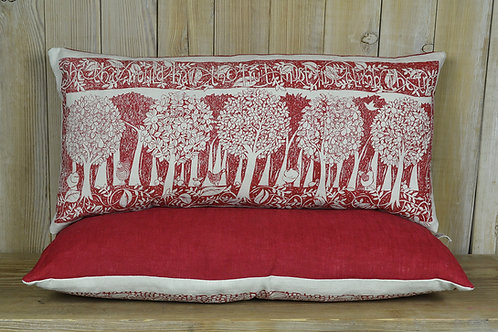Jill Pargeter - 'Orchard' hand printed linen cushion