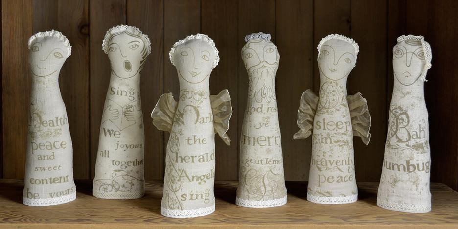 Christmas Linen Figures