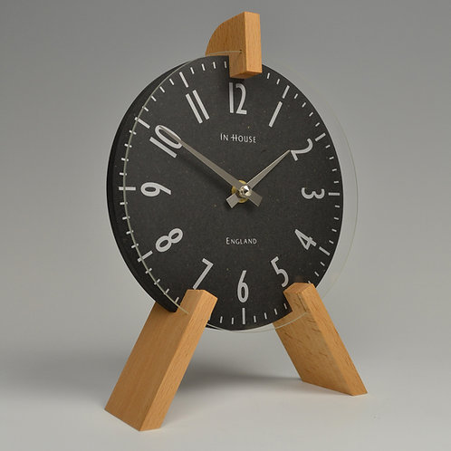 Inhouseclocks - British handmade beech wood mantel clock