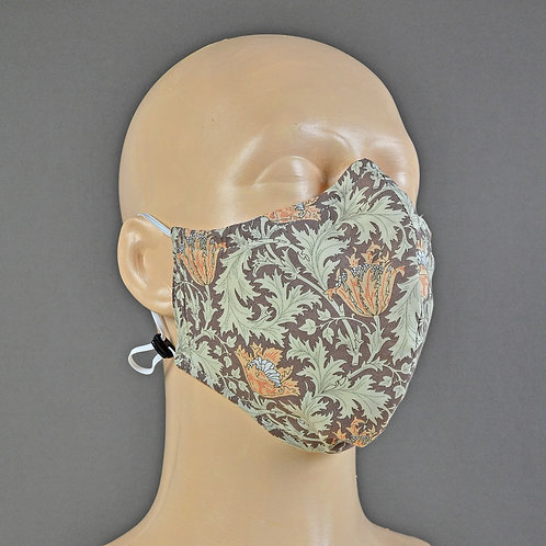 Arts & Crafts style handmade face masks