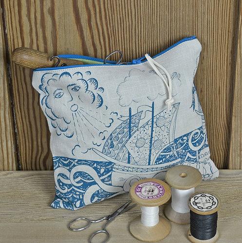 seaside gifts - zip bag - Jill Pargeter