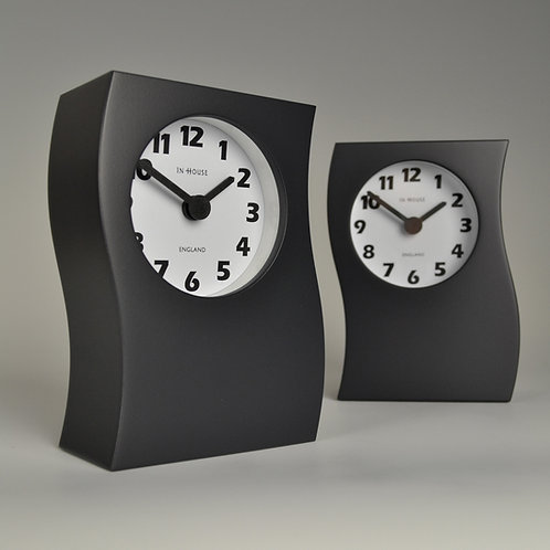 Inhouseclocks - bold contemporary grey mantel clock