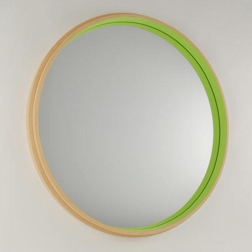 Inhouse mirrors - British handmade beech wood circular mirror