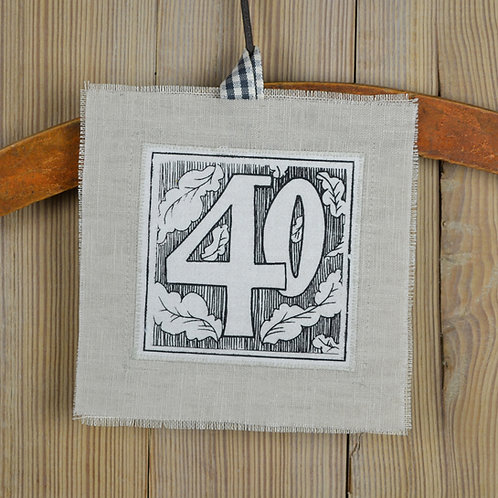 40th birthday card - arts & crafts style