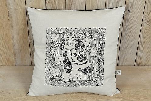 jill pargeter - linen cushions - dog